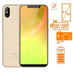 Фото: Blackview A30 2/16GB DUALSIM Gold OFFICIAL UA