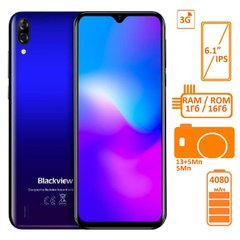 Фото: Blackview A60 1/16GB DUALSIM Gradient Blue OFFICIAL UA